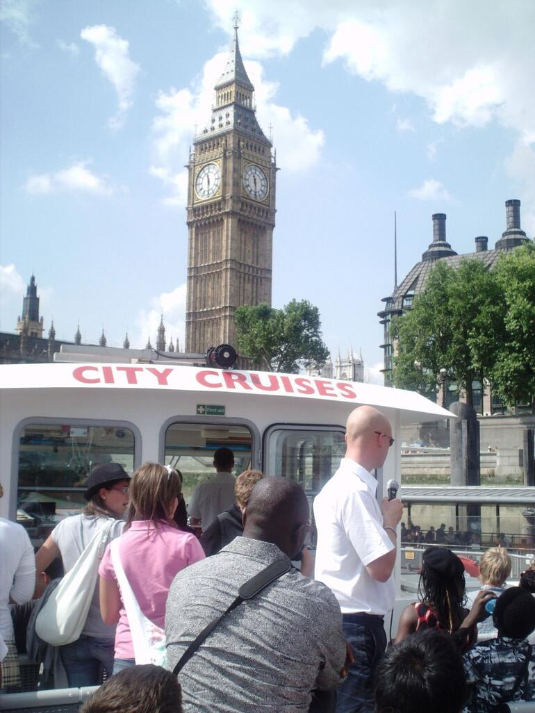 more city cruise ride, big ben in back - London