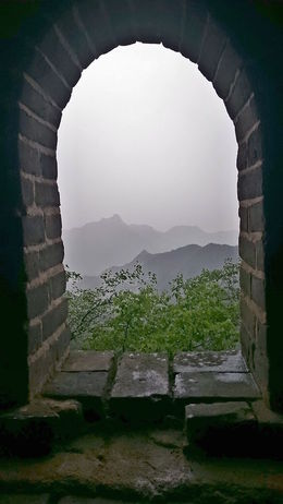 Raining at the Great Wall. , Chanindh - August 2015