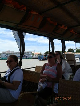 Some of our group on the sampan out to the islands , Mitch - July 2016