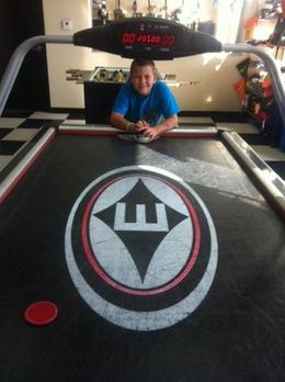 The Air Hockey table in the Office, Mel - August 2012