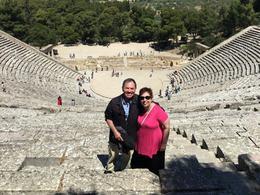 Terry and Geneva at Epidaurus theater. , Theodore - June 2017