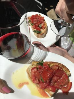Bruschetta and wine with the perfect plates , Jennifer C - June 2017