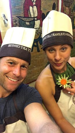 Mark and Sonia aceing the cooking class! , Mark M - December 2017