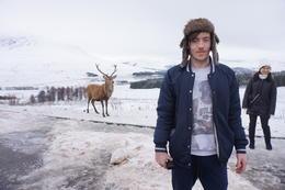 A wild reindeer and me being a tourist , Callum D - January 2018