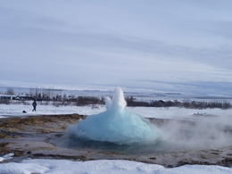 Strokkur at Gulfoss, Keeley M - March 2011