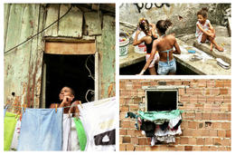Doing chores in the favelas - May 2013