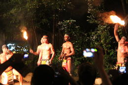 After the Night Safari at the Singapore Zoo we were entertained by the dare devil antics of the performers from Borneo at the Fire Show. , Maria H - September 2011