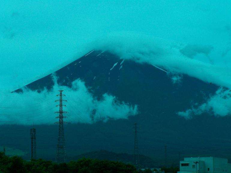 Fuji, cloud covered - Tokyo
