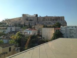 View of the Acropolis from the museum, Leah - August 2013