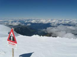 At the summit of Jungfraujoch - above the clouds - September 2009