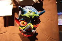 One of the masks in the museum on Sun Island, Bandit - July 2014