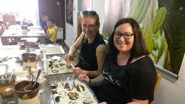 Sari Grönlund making chocolate. , Eric G - July 2016