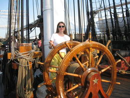 Explore the military ship. , Olga N - July 2014