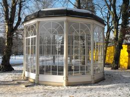 Sound of Music gazebo in grounds of Hellbrun Palace - March 2010