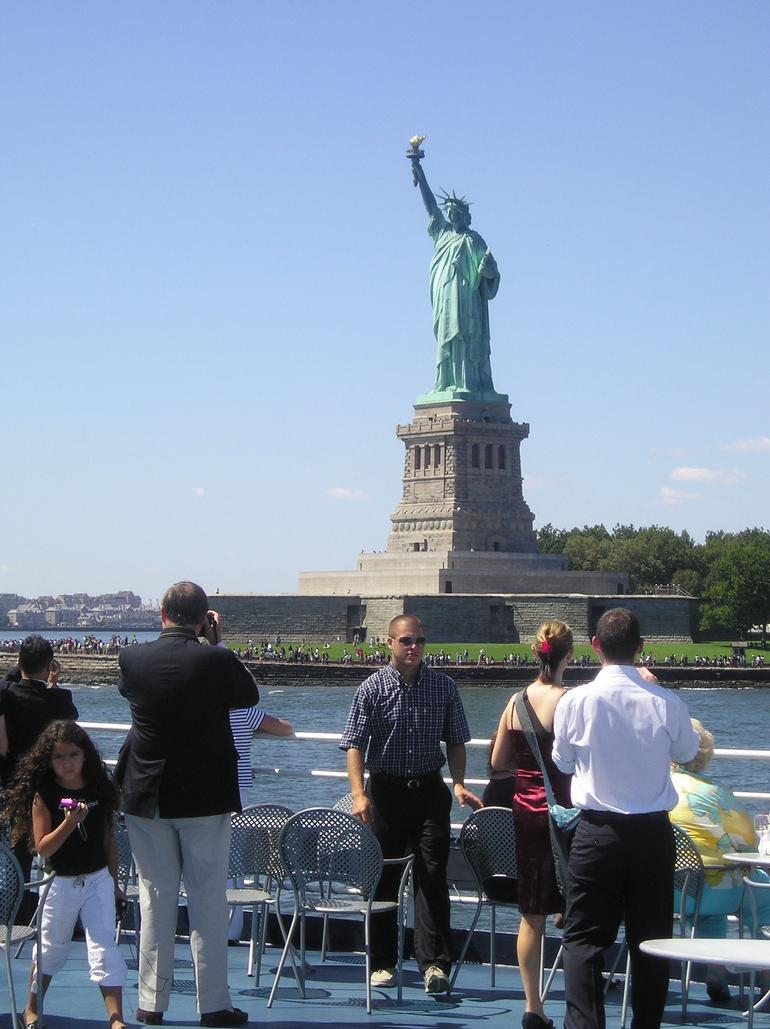 Statue of Liberty from Sunday Brunch aboard World Yacht - New York City