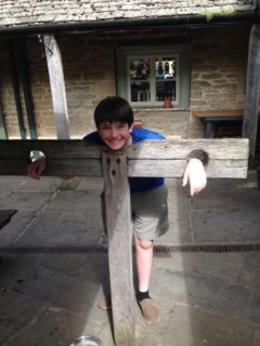 Wishing I had one of these at home. My teenage son in the stocks. , James N - June 2014