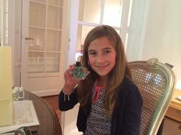 Caroline, age 10, after making her and quot;signature scent! and quot; , Charles A - August 2014