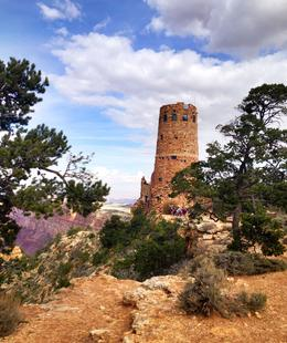 The Indian Watchtower at Desert View designed by Mary Colter in 1932 , Letricia G L - November 2016