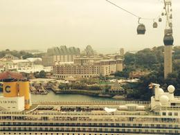 Cable car over Cruise ship , MICHELLE L - January 2017