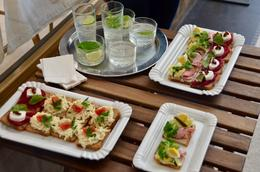 Open faced sandwiches served by Sister's Cafe in Prague. , Michael C - July 2017