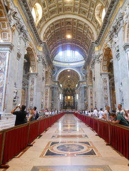 St. Peter's Basilica the tour ends here. You can stay as long as you want. , Richard L - July 2017
