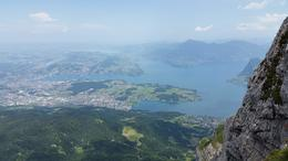View from the tippy top of the mountain. Great view of lake Lucerne and area , JoAnn F - July 2017