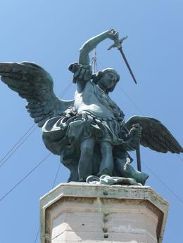 An angel on top of the Castel Sant'Angelo, Erica D - June 2009