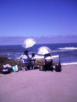 Artists at Pescadero Beach. , Suzanne H - July 2014
