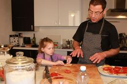 "getting ""schooled"" by Chef Giovanni, CRAIG T - May 2010"