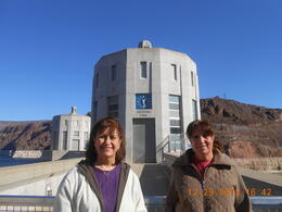 My sister and I at the hoover Dam ,Arizona side , Montaha M - January 2014