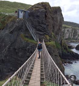 Me crossing the rope bridge. , Shane B - October 2014