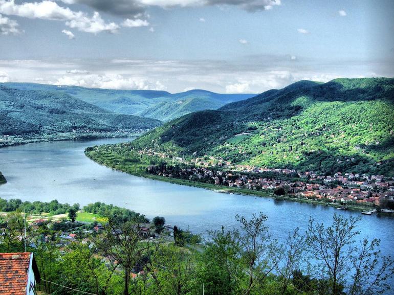 Danube Bend from Visegrad Castle - Budapest