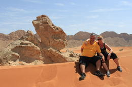 Lunch stop at the Desert Rock......me an Frank! , Isabelle B - March 2013