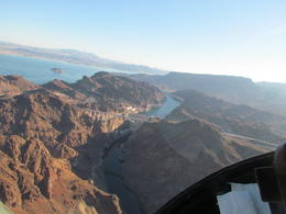Flying over Hoover Dam and Lake Mead , owenlynch - September 2013