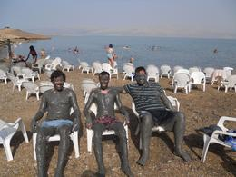 Relaxing in the therapeutic Dead Sea mud!, Timetable Tim - August 2010