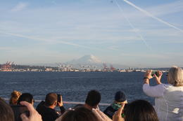 Among the views around the cruise is this beautiful view of Mount Rainier! , Tony - September 2016