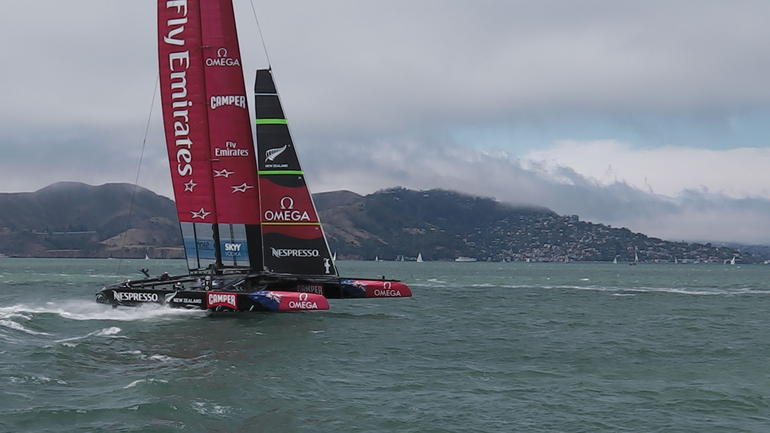 Team New Zealand foiling - San Francisco