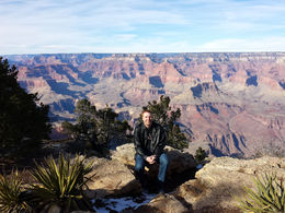My honey enjoying the Grand Canyon., eeyore_cutie_pie - January 2015