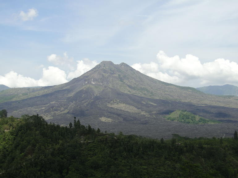 View of Mount Batur from the restaurant. - Bali