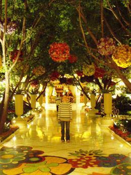 Inside the beautiful lobby of the Wynn, Las Vegas , Leah - May 2011
