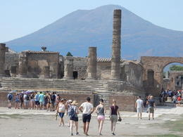 The ruins of the Temple of Jupiter with Mt Vesuvius in the background. , John H - August 2017