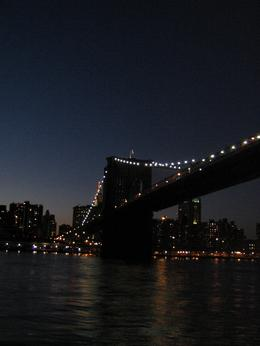 The Brooklyn Bridge, taken on the New York City Harbor Lights cruise., Alison H - March 2008
