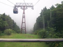 It was very cloudy later in the day, we road the sky ride and vanished in the clouds., DAVID C - July 2010