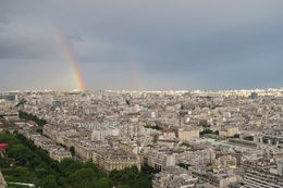Double rainbow over Paris from the Eiffel Tower , Annette A - July 2016