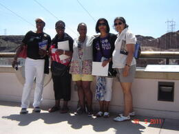 This is my group on top of the Visitors Centre We had a lovely day. Sanda, Maxine, Carlene, Flora and Me. , Victorine N - July 2011
