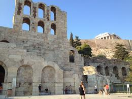 First views of the Acropolis as we walk to the entrance, Leah - August 2013