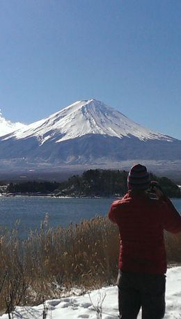 A stunning view of the Fuji-san from our second stop , Matthew N - February 2016