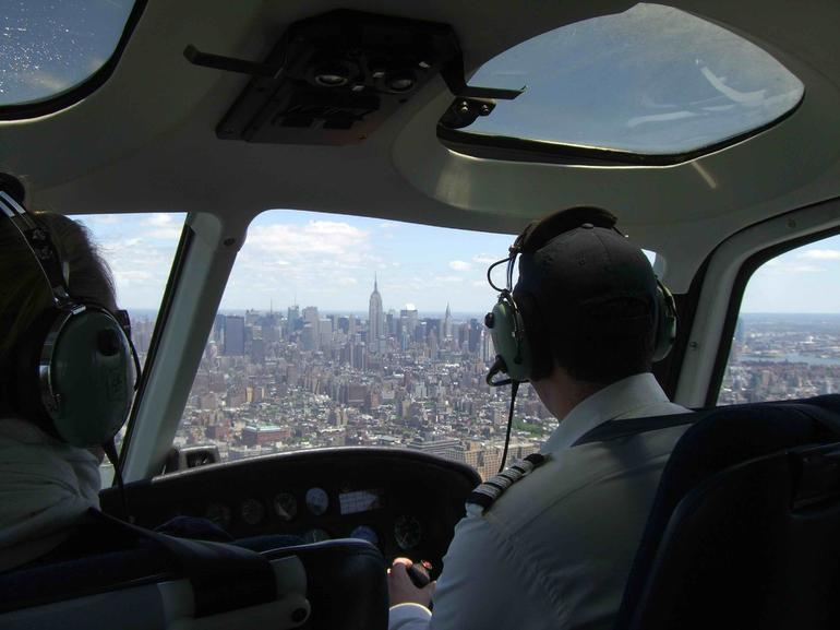 On board our flight over Manhattan - New York City