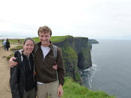 Katie and Eric enjoying the view from the top of the Cliffs of Moher , koclimber - July 2012