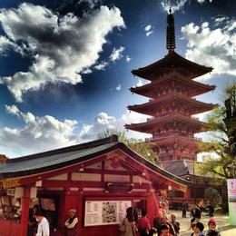 Asakusa Temple, Asha & Brock - July 2013
